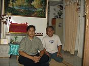 User Meursault and Slamet Serayu of Indonesian Wikipedia (9 December 2006).JPG