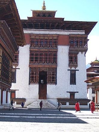 Tashichho Dzong - Image: Utse Tashichoedzong Bhutan 051024