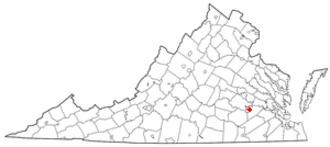 Fort Lee (Virginia) - Location of Fort Lee, Virginia