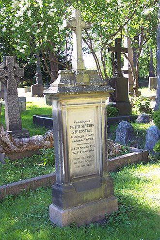 Peter Severin Steenstrup - Steenstrup's headstone at the Vår Frelsers gravlund