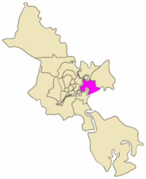 District 2, Ho Chi Minh City - Map showing the location of District 2 within metropolitan Ho Chi Minh City