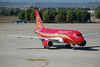 RusLine - A RusLine Airbus A319 at Antalya Airport, painted in the livery acquired from Air Volga