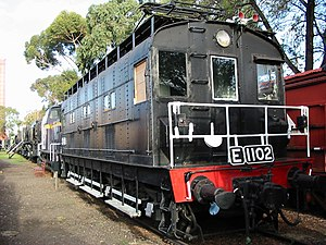 Victorian Railways E class (electric) - E 1102, preserved at the ARHS North Williamstown Railway Museum