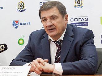 Valeri Bragin - Image: Valeri Bragin 2012 11 30 Amur—CSKA Moscow KHL game