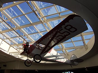 Quad City International Airport - A Velie Monocoup airplane in the terminal
