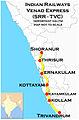 Venad Express (Shoranur - Trivandrum) Route map.jpg