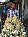 Vendor of Pineapples - Srimangal - Sylhet Division - Bangladesh (12949890523).jpg