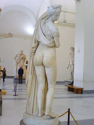 Cultural history of the buttocks - Venus Kallipygos, a Roman sculpture (thought to be based on a Greek original) that emphasizes the buttocks