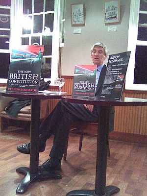 Vernon Bogdanor - Bogdanor speaking on his book The New British Constitution in Blackwell's bookshop, Oxford.