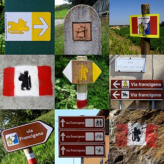 Via Francigena - Various Via Francigena signposts
