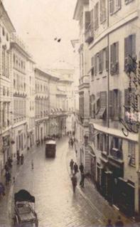 18th-century street in Genoa