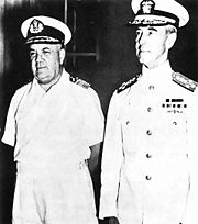 Vice Adm. Conrad E.L. Helfrich and Admiral Thomas C. Hart