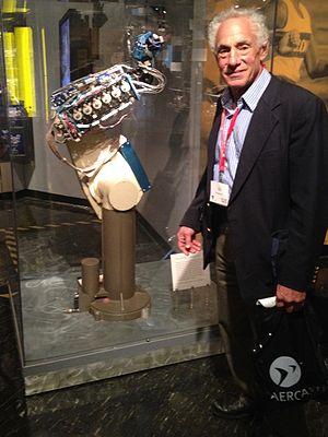 Victor Scheinman - Victor Scheinman at the MIT Museum with a PUMA robot in 2014