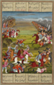 Victory of Prince 'Abbās Mīrzā over the Russian Ashanjdār and his troops. A Qajar-era miniature.png
