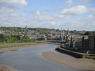 River Lune river in Cumbria and Lancashire, UK