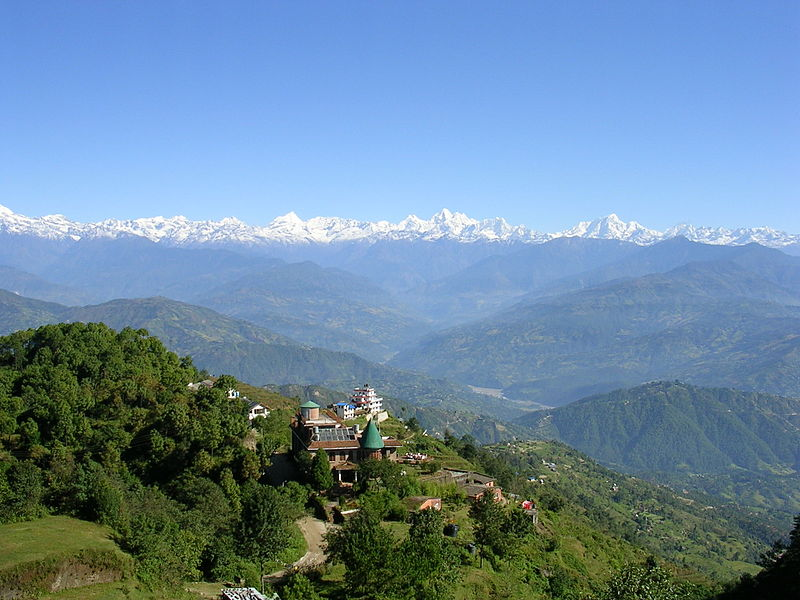 File:View from Nagarkot, nepal.jpg