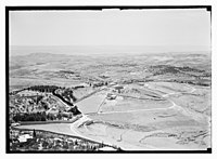 View from the Russian Tower on Mount of Olives (Jerusalem), looking east towards Bethphage, Bethany, Dead Sea LOC matpc.10554.jpg