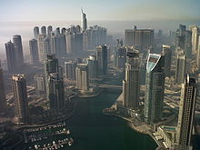View over Dubai Marina.