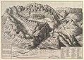 View of La Grande Chartreuse in the French Alps - Descriptio Maioris Cartusiæ Montium, et Ædificiorum dependentium MET DP823427.jpg