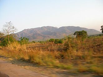 Zomba, Malawi - View of Zomba Plateau from highway north of Zomba