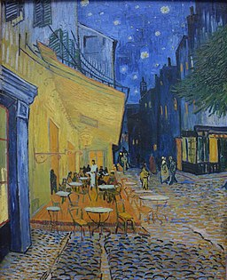 Vincent van Gogh, Café Terrace at Night, 1888. Painting inside the Kroller Muller Museum - panoramio