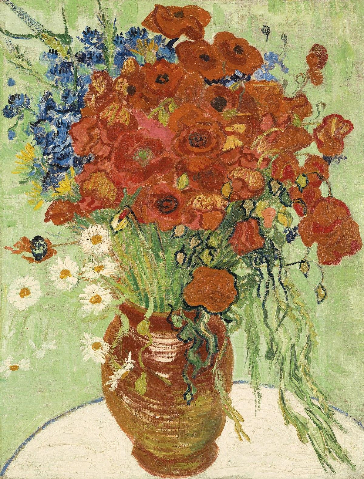 Vase Mit Kornblumen Und Klatschmohn Wikipedia