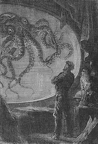 Resultado de imagen para ilustraciones de 20000 leguas de viaje submarino