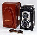 Vintage Ciro-Flex Model B TLR Camera, With Alphax Automatic Shutter, Made In USA, Circa 1948 (35736827862).jpg