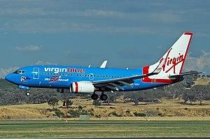 Virgin Blue Boeing 737-7FE CBR Gilbert-1.jpg