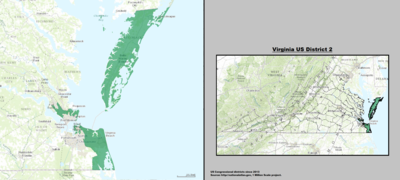 Virginia's 2nd congressional district - since January 3, 2013.
