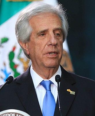 Tabaré Vázquez - Image: Visita Oficial del Presidente de Uruguay 1 (cropped)