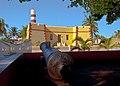Vista desde el parque del Faro de Sisal; Hunucmá, Yucatán.jpg