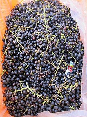 Vitis coignetiae - Crimson gloryvine fruits, sold in Mungyeong, Korea
