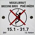 Vogelbrut Klettern verboten.JPG