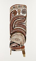 Part of a bird figure for the Malagan ceremonies of the dead