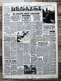 """Voorpagina """"De Gazet"""" 7 Juni 1944 met hoofdnieuws """"de Invasie heeft aanvang genomen' verwijzend naar de geallieerde landing in Normandië.jpg"""