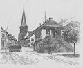 Vor Frue tårn og Korsbrødregården fra Strandbastion.png