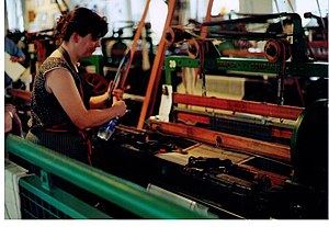 Power loom - Draper power loom in Lowell, Massachusetts, US