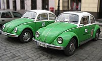 VW Beetles pretending to be Mexican taxis, adv...