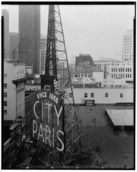 WEST ELEVATION, SIGN ON ROOF - City of Paris Dry Goods Company, Geary and Stockton Streets, San Francisco, San Francisco County, CA HABS CAL,38-SANFRA,135-24.tif
