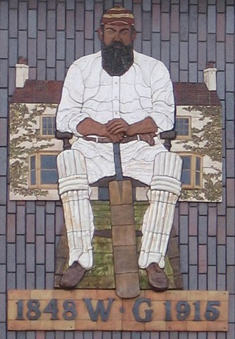 Downend, South Gloucestershire - A mural of W. G. Grace in Downend