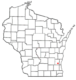 Location of Germantown (town), Wisconsin