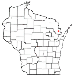 Location of Lake, Wisconsin
