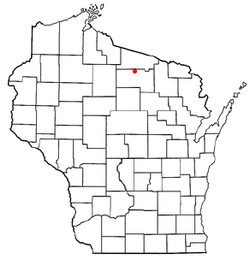 Location of Woodruff, Wisconsin