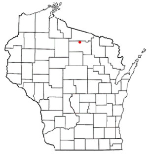 Woodruff, Wisconsin - Image: WI Map doton Woodruff