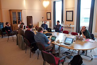 Image shows a previous Wikimedia UK Board meeting