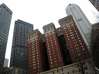 Omni William Penn Hotel - Image: WPH from One Mellon Square Park