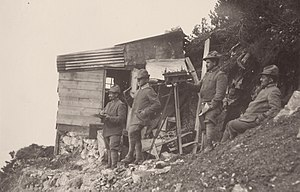 Battle of Mount Ortigara - Image: WWI Monte Ortigara Alpini observation post on Cima Levante