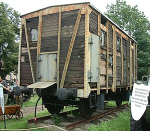 Poznańczyk (armoured train) - One of original 1918 cars of the first Poznańczyk is preserved in Poznań as a monument