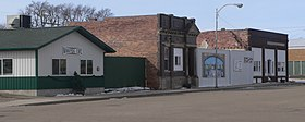 Wakonda, South Dakota, Ohio Street between 1 and 2 Streets, SW side.JPG